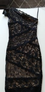 LTB! Sexy one sleeve black lace dress